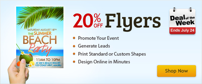 Deal Of The Week: 20% Off Flyers